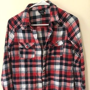 Red blue white flannel